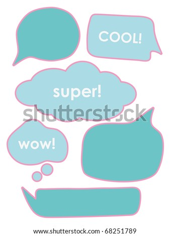 chat speech signs. vector illustration