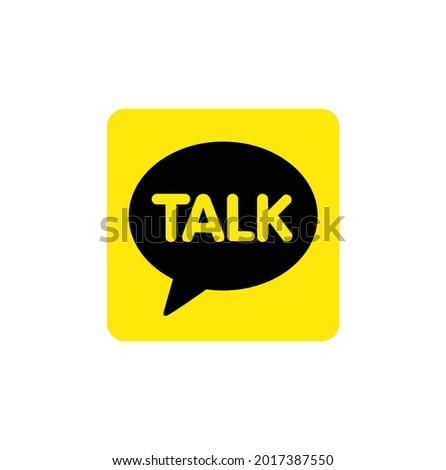 chat talk bubble icon logo vector
