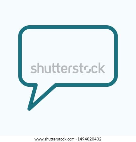 Chat, talk icon vector illustration EPS10. Communication concept