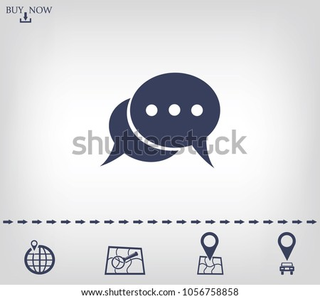 Chat vector icon.