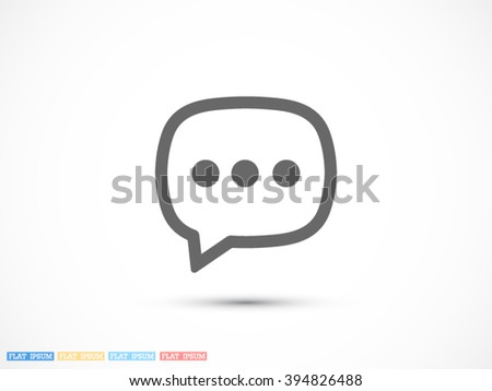 chat vector icon