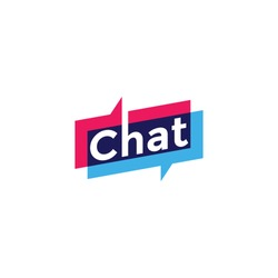Chat vector logotype design template