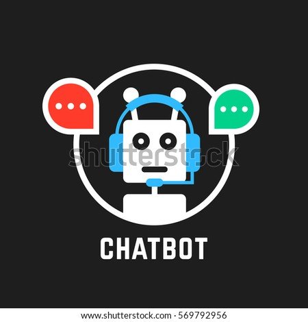 chatbot icon like hotline service. concept of ui, media, hot line, dialogue script popup, spam, profile, software, helpline contact. flat style trend modern graphic logotype design on white background