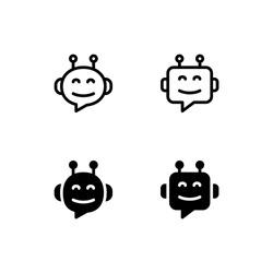 Chatbot Icon Logo Vector Symbol. Robot Icon