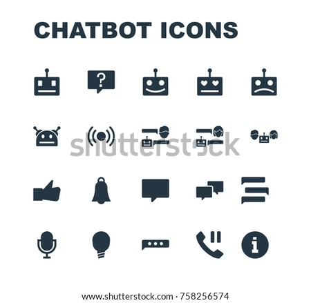 chatbot icon robot chatting set with conversation messaging virtual assistance chatbot icon support customer care isolated chatbot icon vector illustration concept