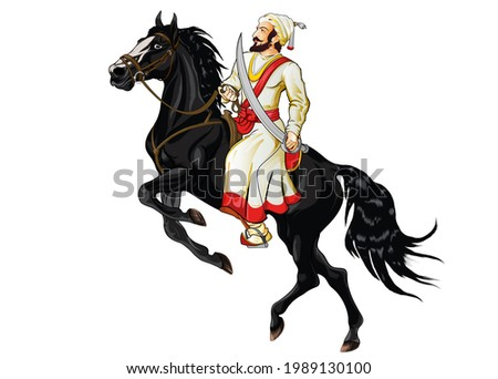 Chatrapati Shivaji Maharaj,the founder of the Maratha Empire in western India. He is considered to be one of the greatest warriors of his time and even today