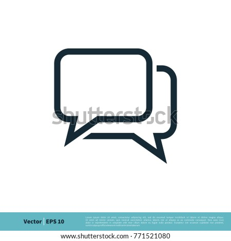 Chatting, Dialog, Discuss Speech Bubble Icon Vector Logo Template
