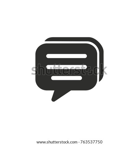 Chatting vector icon. Black illustration isolated on white background for graphic and web design. Stock photo ©