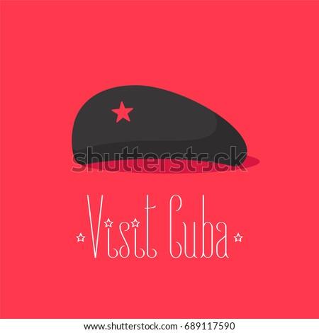 che guevara black hat cuban