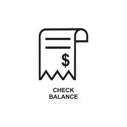 CHECK BALANCE ICON , CASH BANK ICON