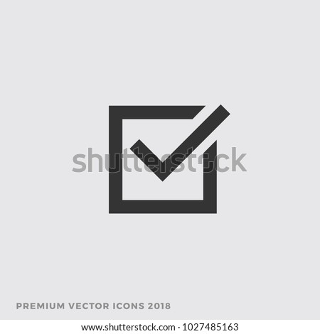 Check Box Icon, Vector Vote Yes Sign