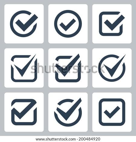 Check box vector icons set