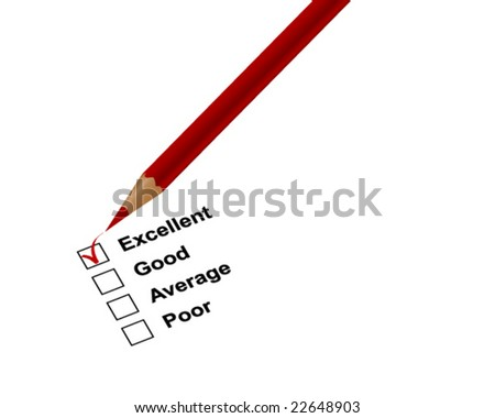 Check boxes with red pencil - vector image