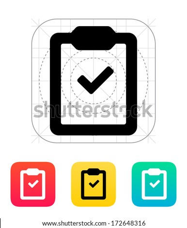 Check clipboard icon. Vector illustration.