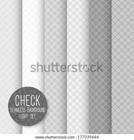 Check Diagonal Seamless pattern. Geometrical vector background. Neutral light set. Seamless pattern can be used for wallpaper, pattern fills, web page background, surface textures