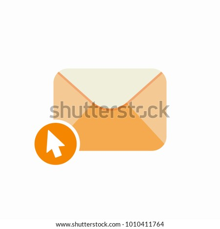 Check email click email email clicks letter message open email send icon. Vector Flat illustration