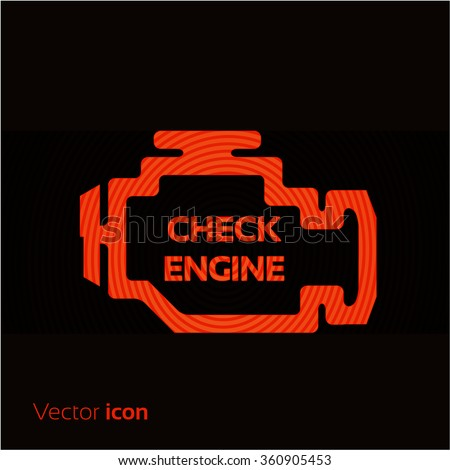 check engine  red icon isolated