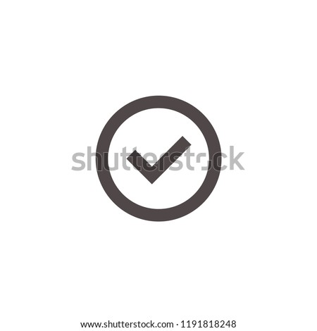 Check icon vector. Check symbol. Linear style sign for mobile concept and web design. Check symbol illustration. Pixel vector graphics - Vector.