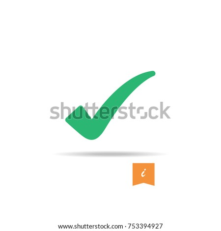 Check icon vector isolated on white background. Trendy check icon in flat style. Template for app, ui and logo. Icon check for your web site, office poster and placard. Modern check icon, EPS 10