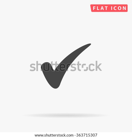 Check Icon Vector. Perfect Black pictogram illustration on white background.