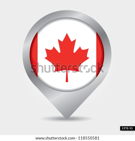 Check-in Canada flag
