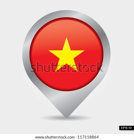 Check-in vietnam flag