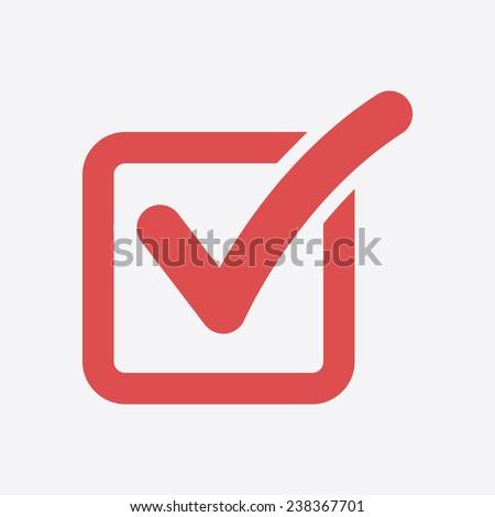 Check list button icon. Check mark in box sign.