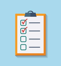 Check List Flat Icon. Vector illustration