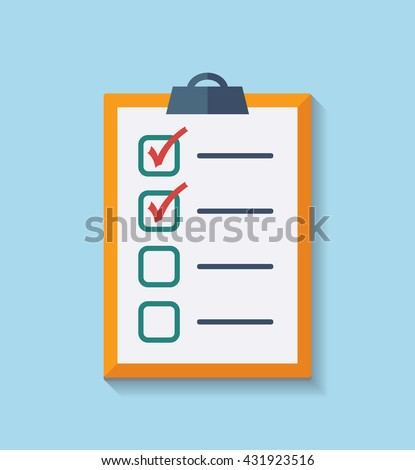Check List Flat Icon. Vector illustration
