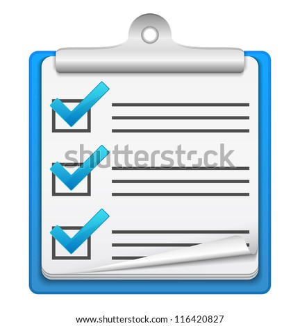Check list icon, vector eps10 illustration