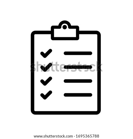 Check list icon,vector illustration. Flat design style. vector check list icon illustration isolated on White background, check list icon Eps10. check list icons graphic design vector symbols. ストックフォト ©