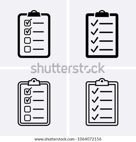 Check List Icon. Vector set