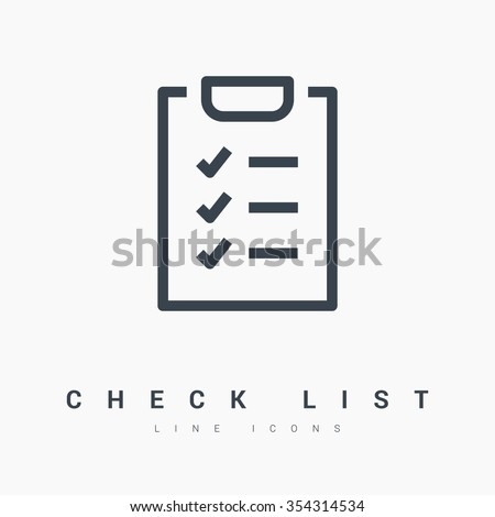 Check List isolated minimal single flat linear icon for application and info-graphic. Points line vector icon for websites and mobile minimalistic flat design.