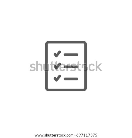 Check list line icon, Vector on white background
