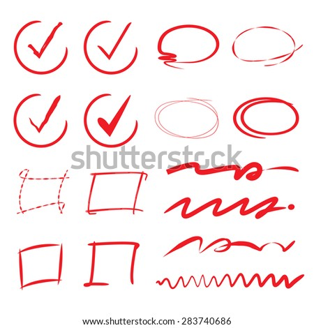 vector images illustrations and cliparts check list red circle