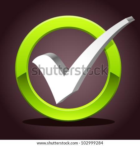check list symbol - vector illustration