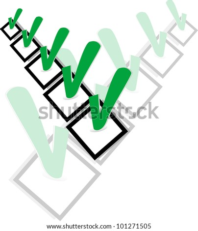 Check list symbol with ok sign. abstract vector illustration