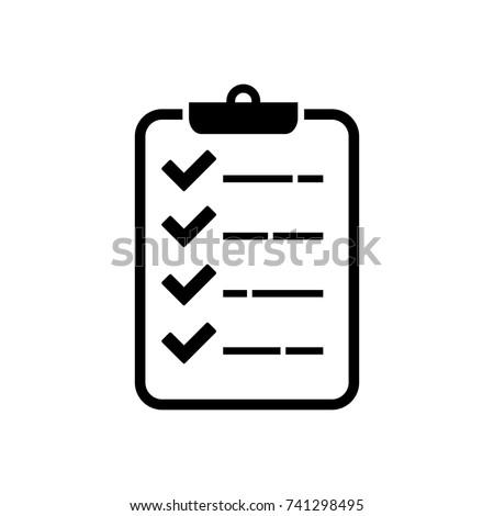 check list vector icon, check mark vector icon