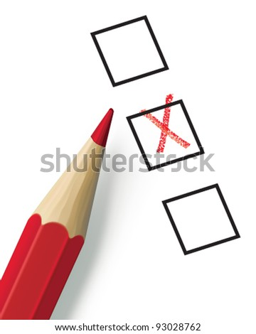 Check list with pencil. Vector illustration. Mesh
