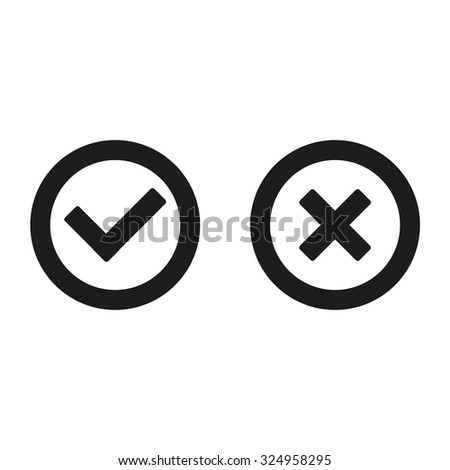 Check mark and Cross Icons