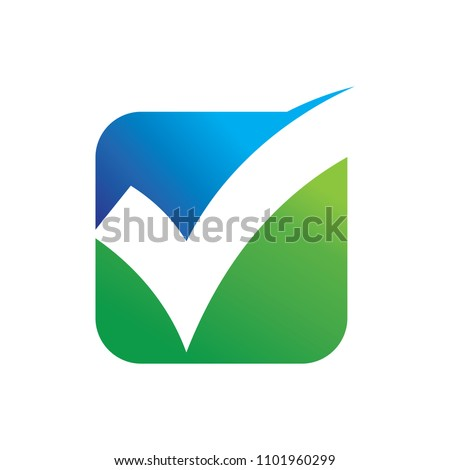 Check Mark and Vote Logo Vector