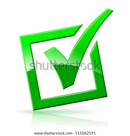 check mark box icon on white