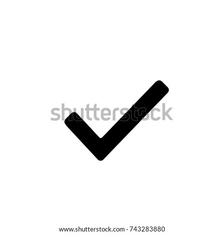 Check Mark, Check icon vector, in trendy flat style isolated on white background. Check icon image, Check icon illustration