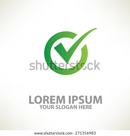 Check mark design,logo template,clean vector