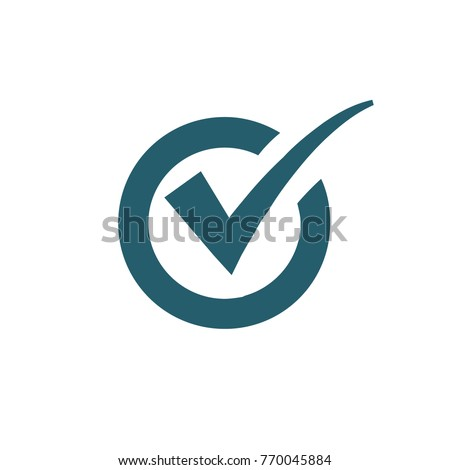 Check mark icon design,vector