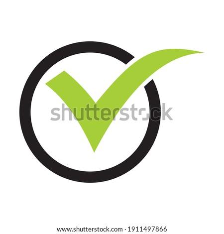 check mark icon in a circle. Check list button icon