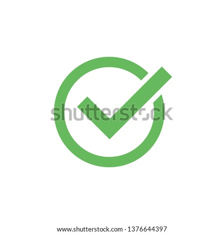 Check mark icon isolated on white background