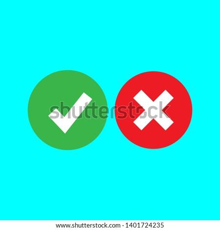 Check mark icon set in color . Vector illustration  ストックフォト ©