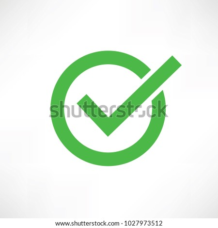 Check mark icon sign vector