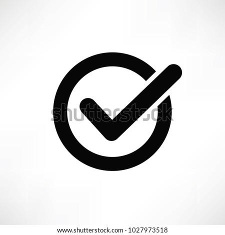 Check mark icon sign vector